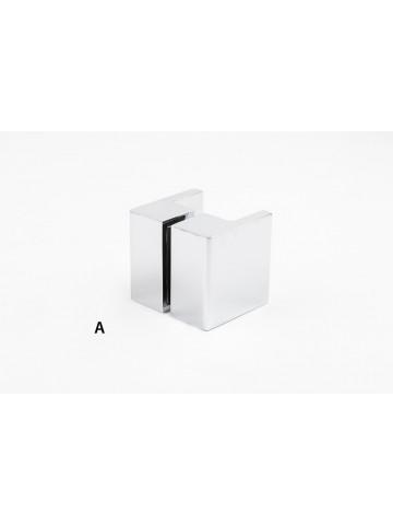 Square handle for shower door